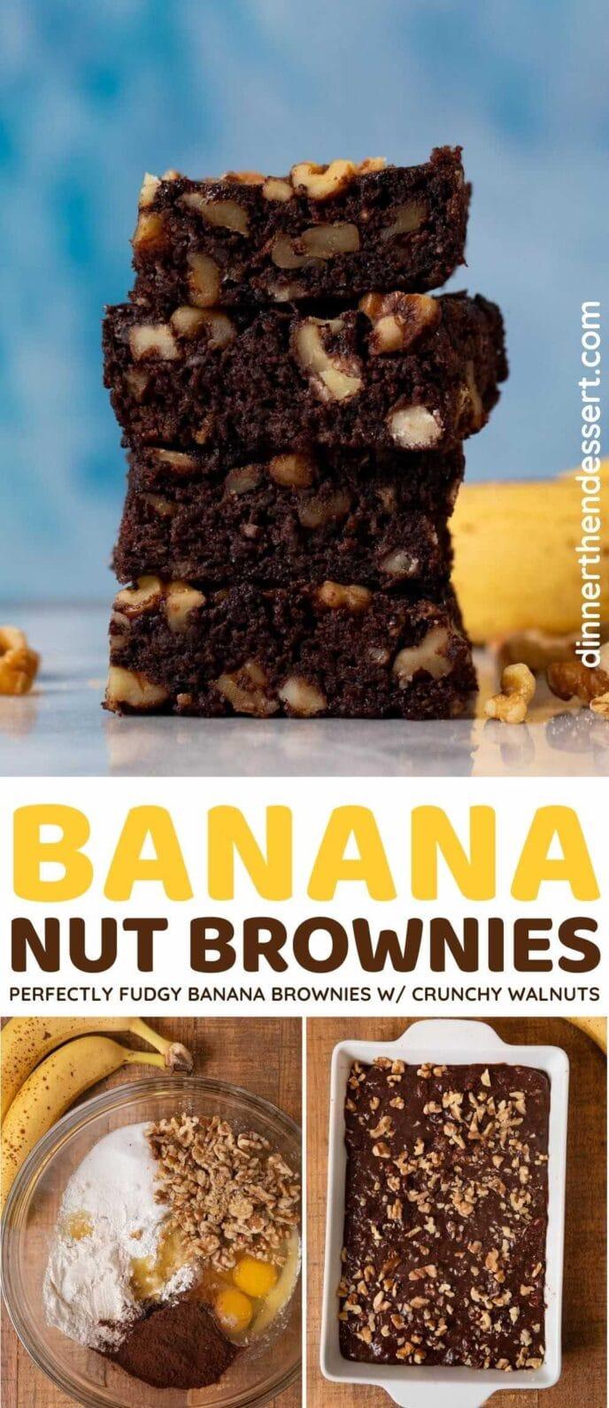 Banana Nut Brownies collage