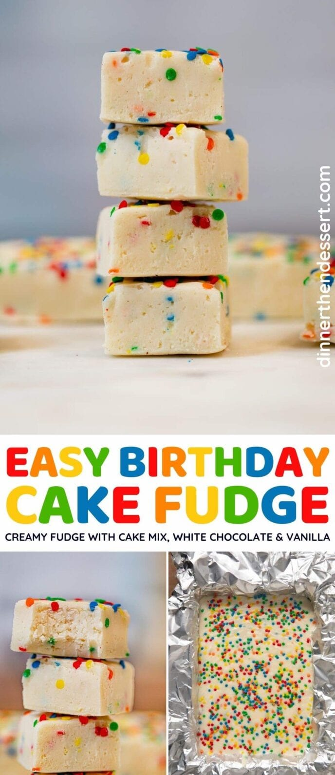 Birthday Cake Fudge collage