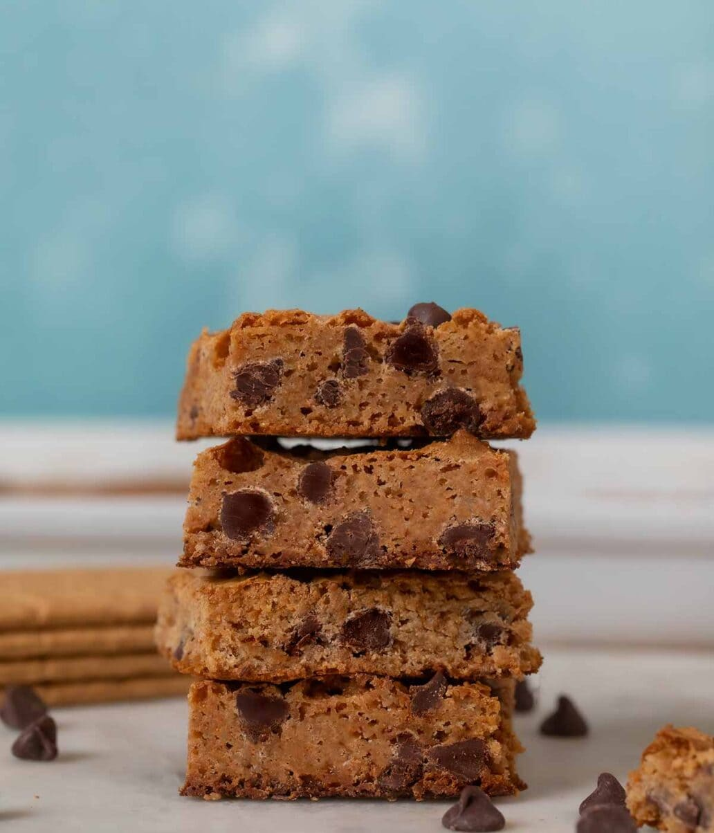 Chewy Graham Cracker Bars in stack