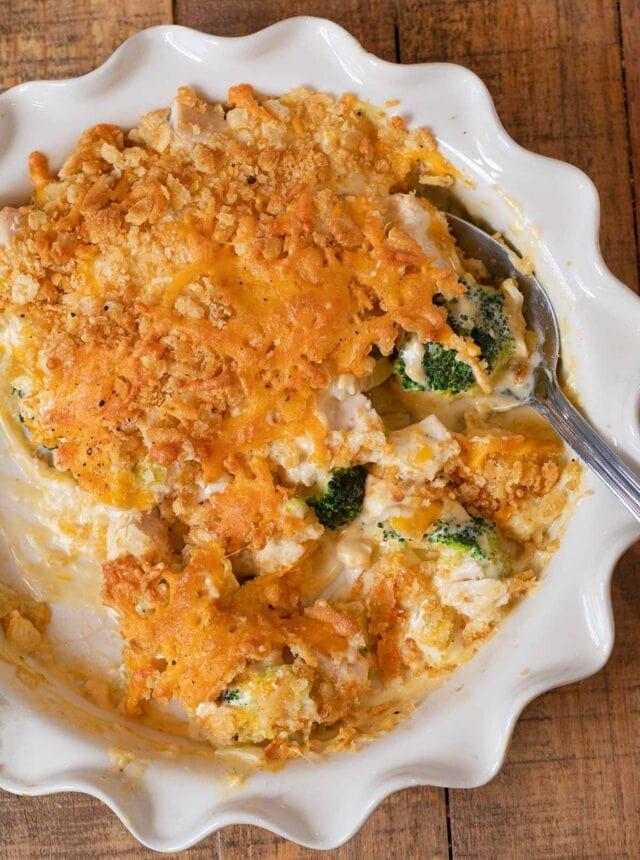 Chicken Divan in pie plate