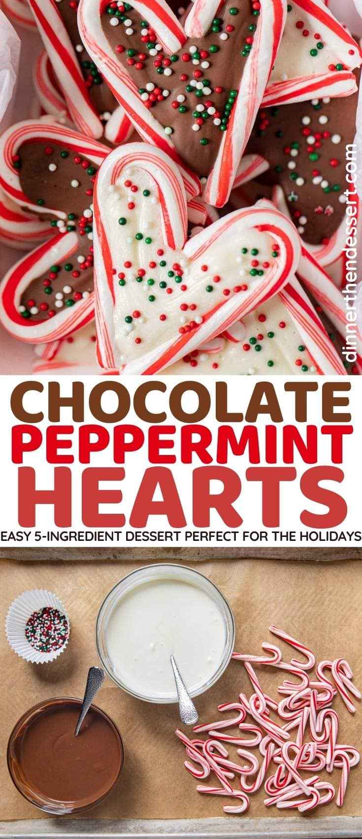 Chocolate Peppermint Hearts collage