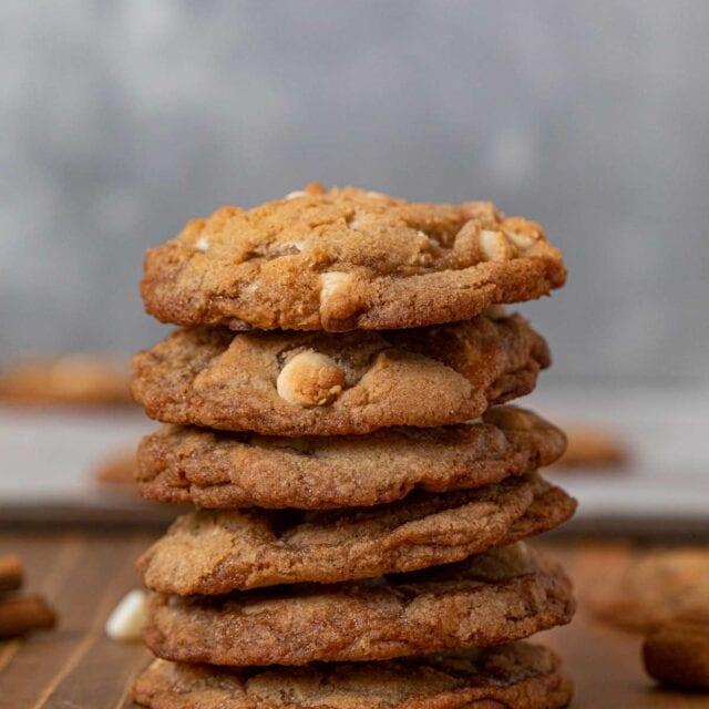 Cinnamon Crisp Cookies in stack