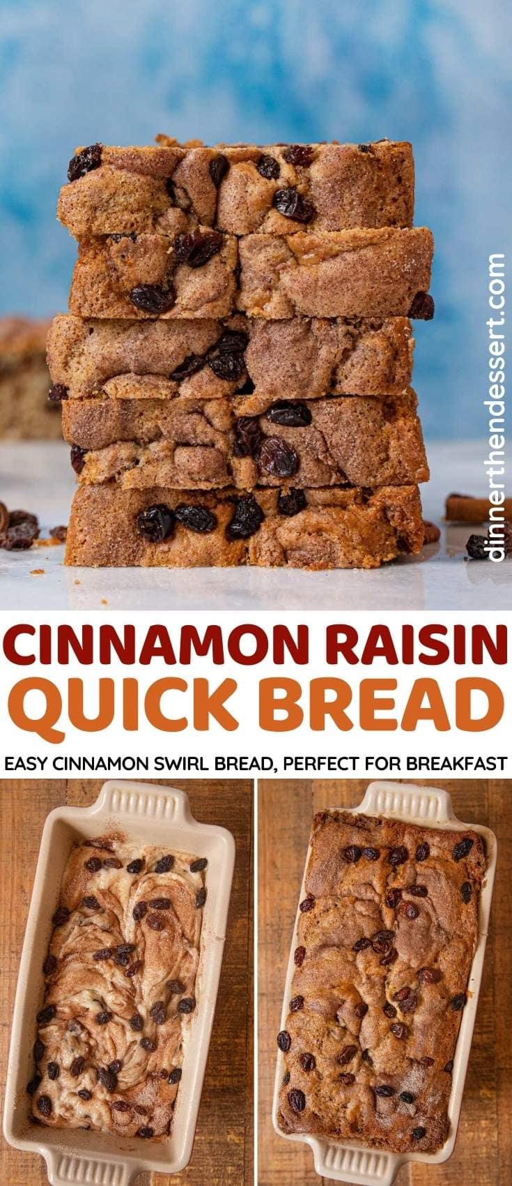 Cinnamon Raisin Quick Bread collage