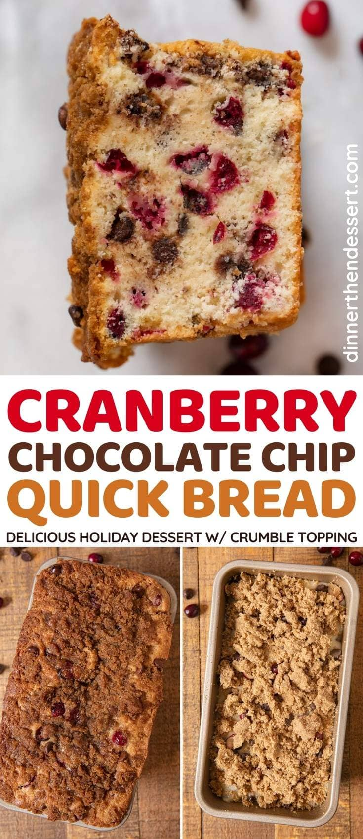 Cranberry Chocolate Chip Bread collage