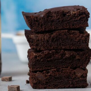 Guinness Brownies in stack