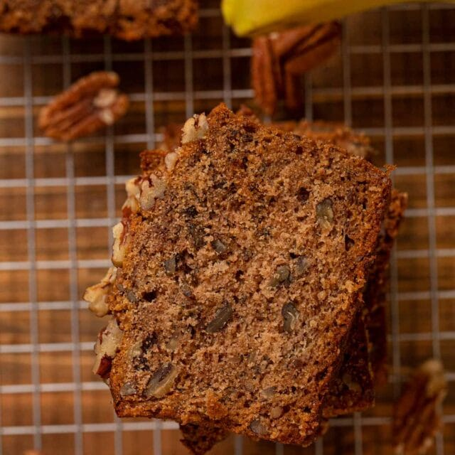 slice of Honey Banana Bread