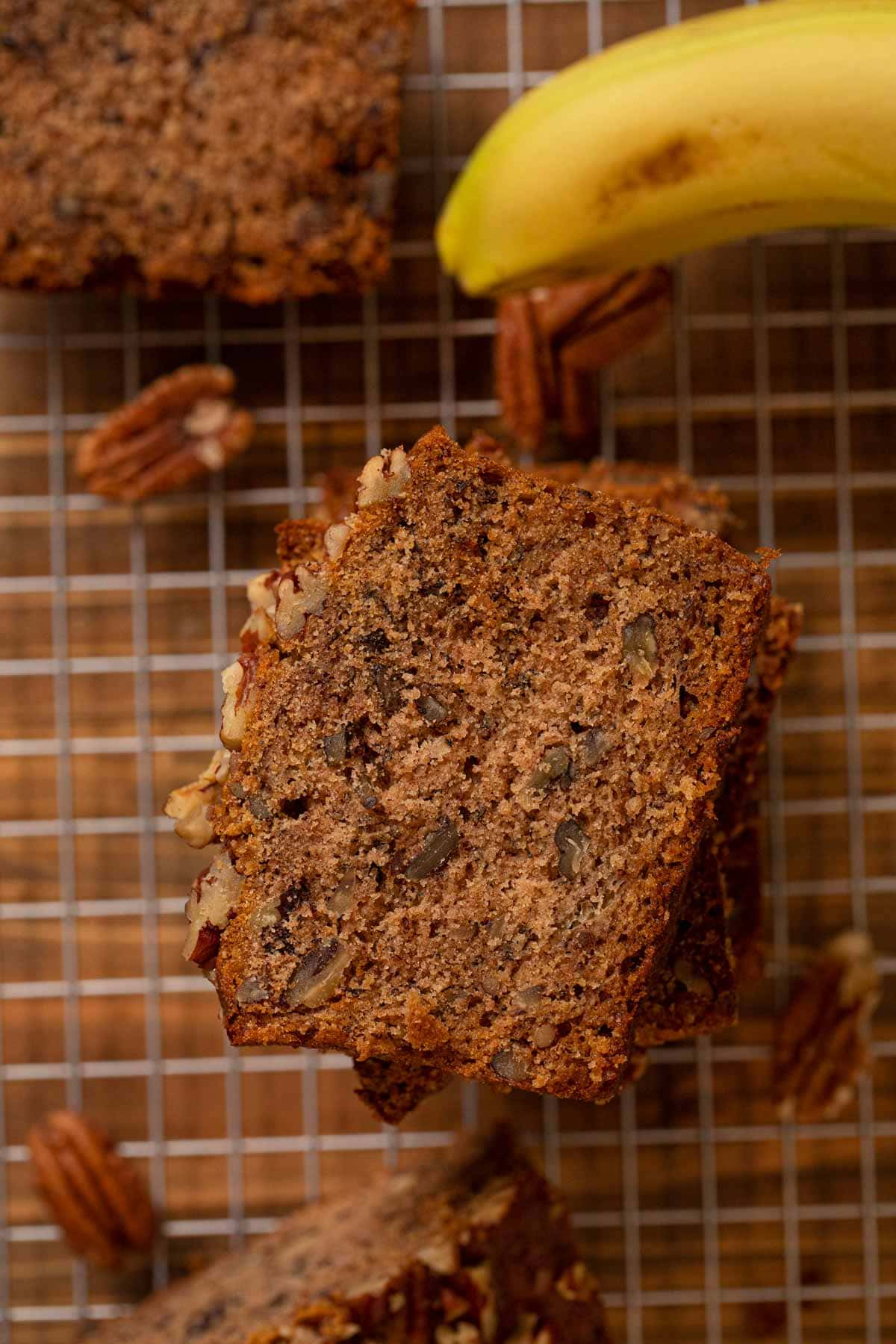 slice of Honey Banana Bread