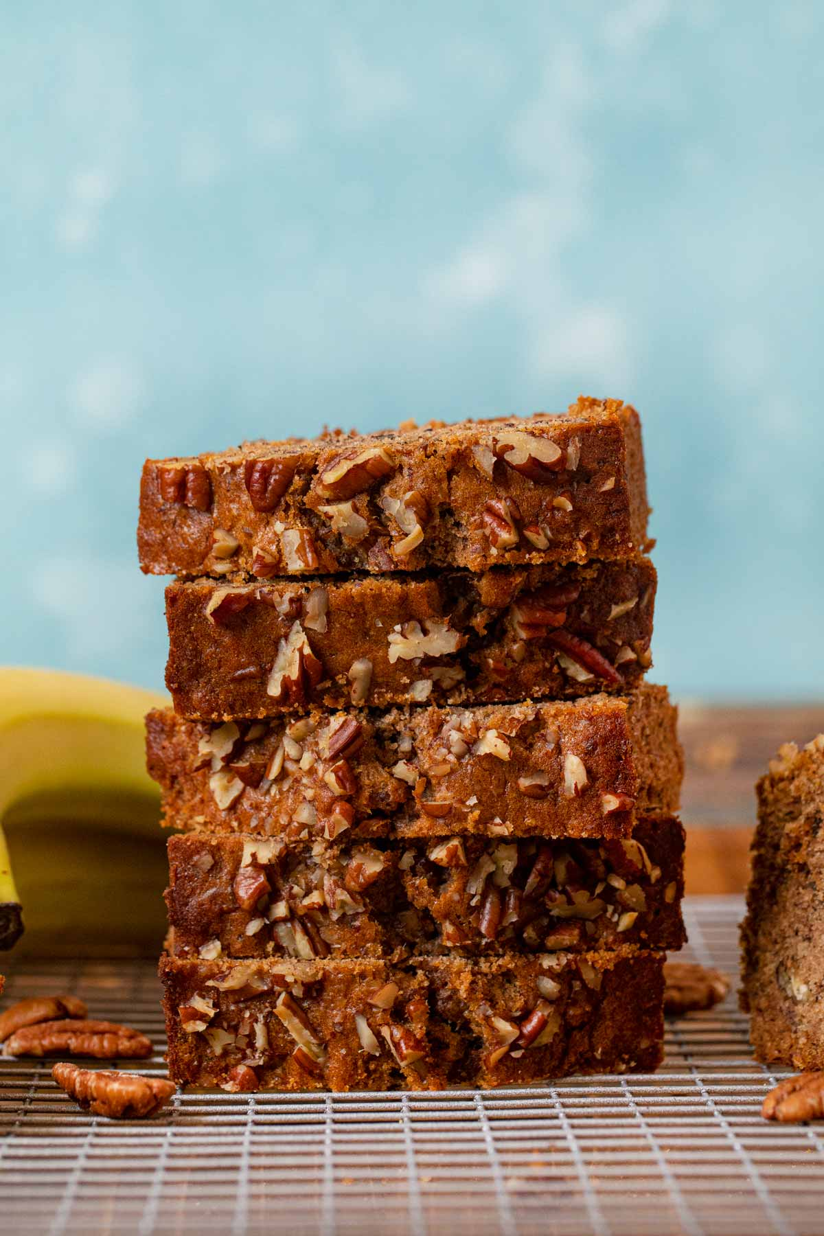 stack of Honey Banana Bread