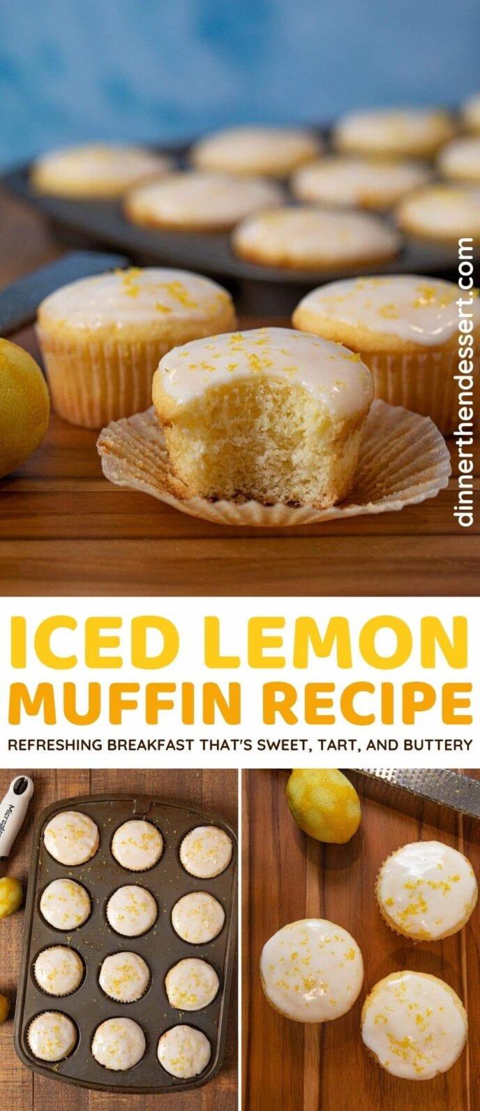 Iced Lemon Muffins