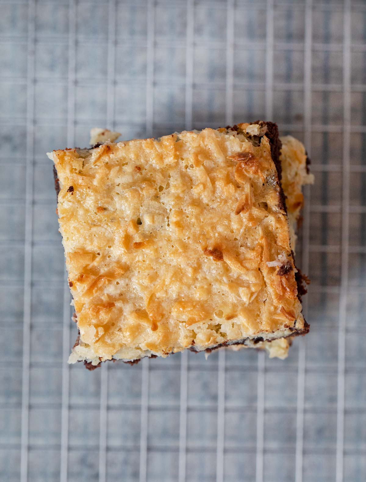 Top down photo of Coconut Macaroon Brownies
