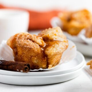 Monkey Bread Muffins on plate