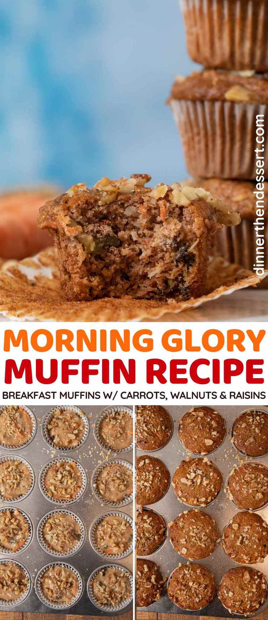 Morning Glory Muffins collage
