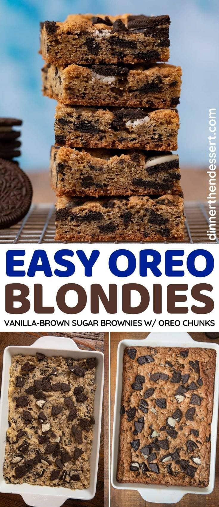 Oreo Blondies collage