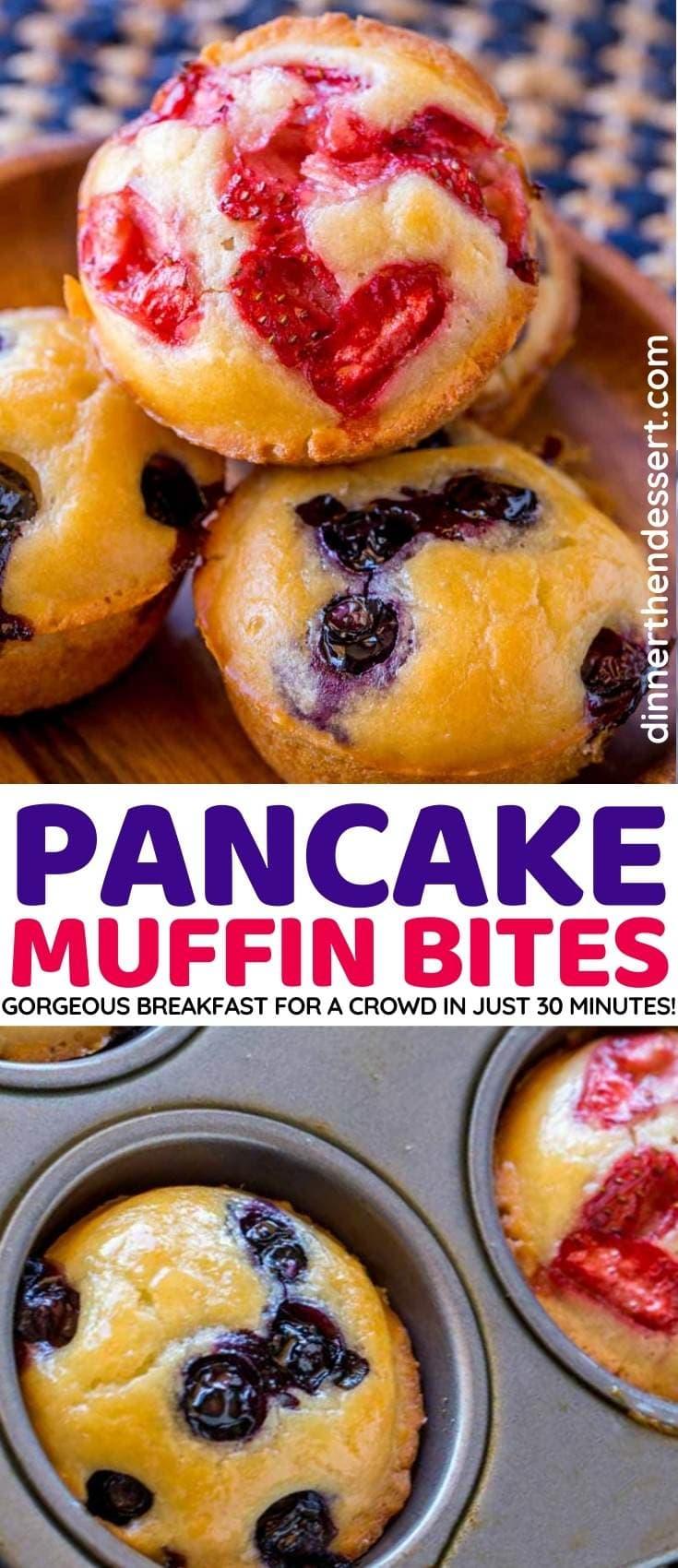 Pancake Muffin Bites collage