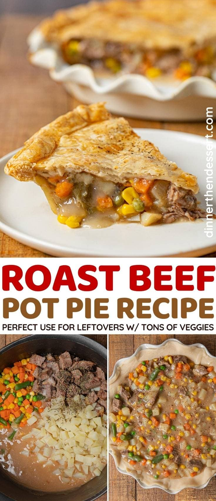 Roast Beef Pot Pie collage