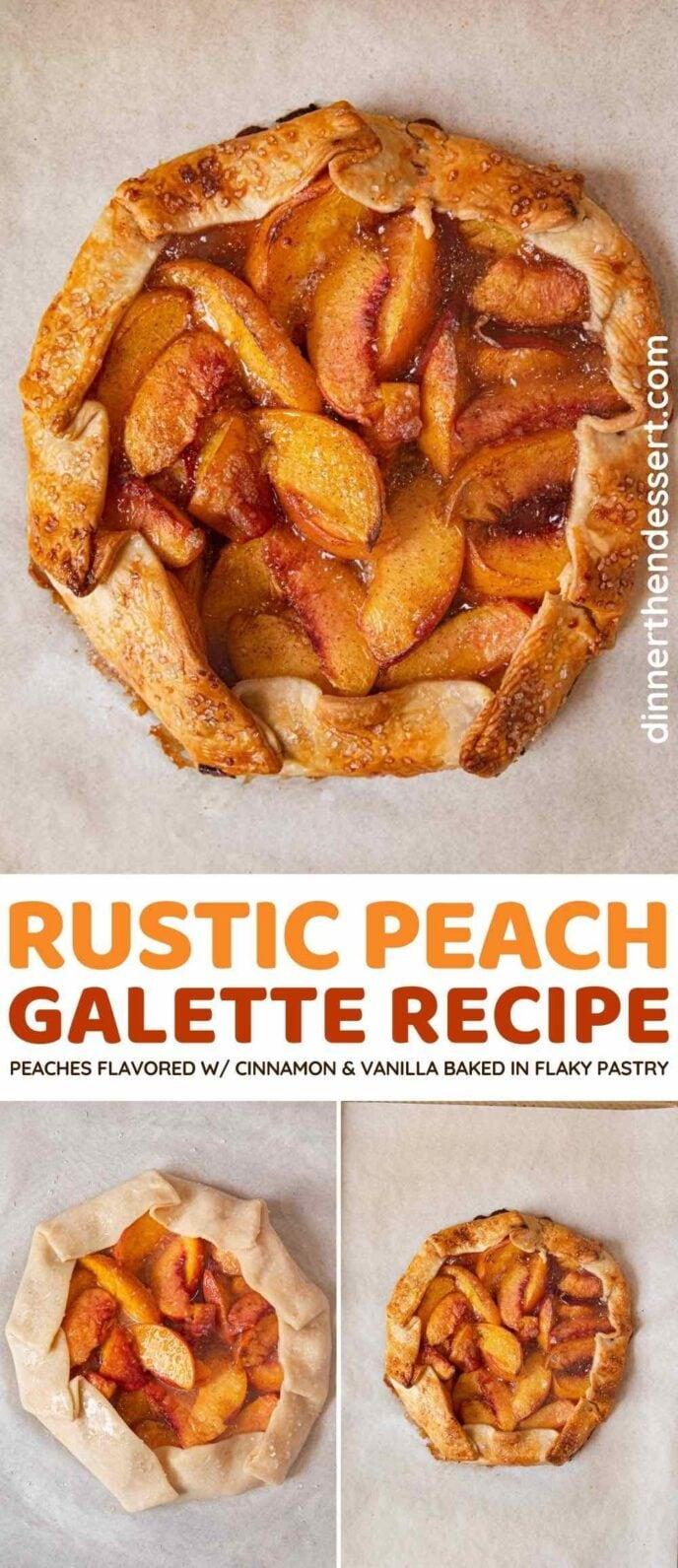 Peach Galette collage