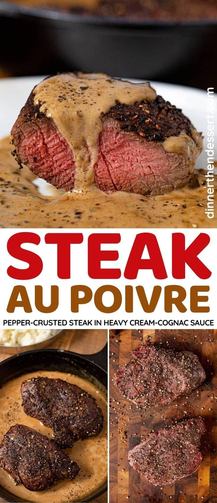 Steak Au Poivre collage