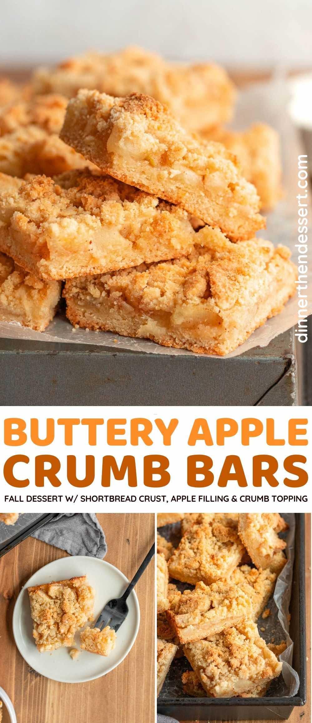 Apple Crumb Bars collage