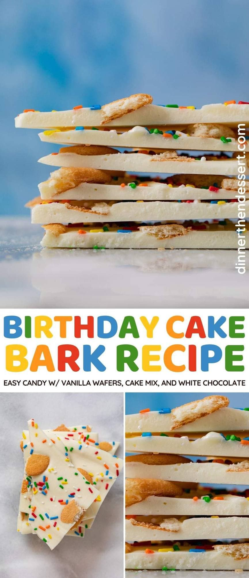Birthday Cake Bark collage