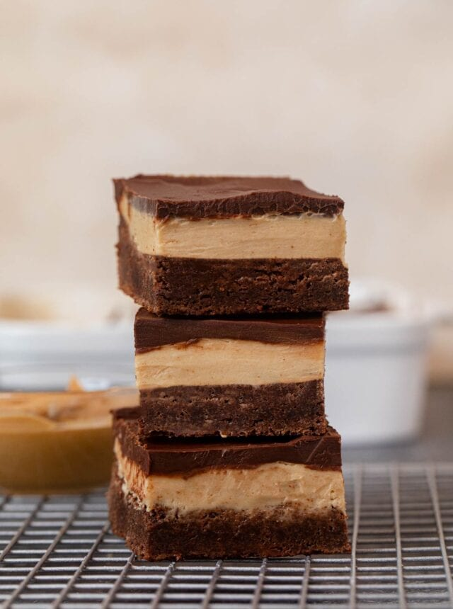 Buckeye Brownies in stack