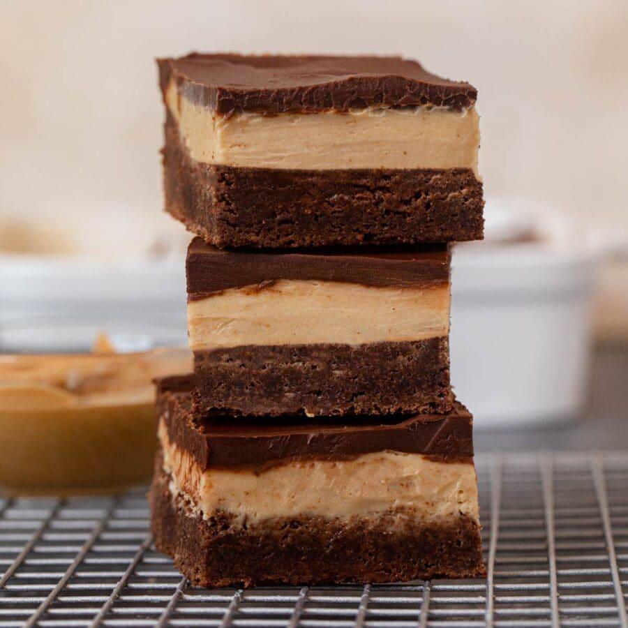 Buckeye Brownies in stack