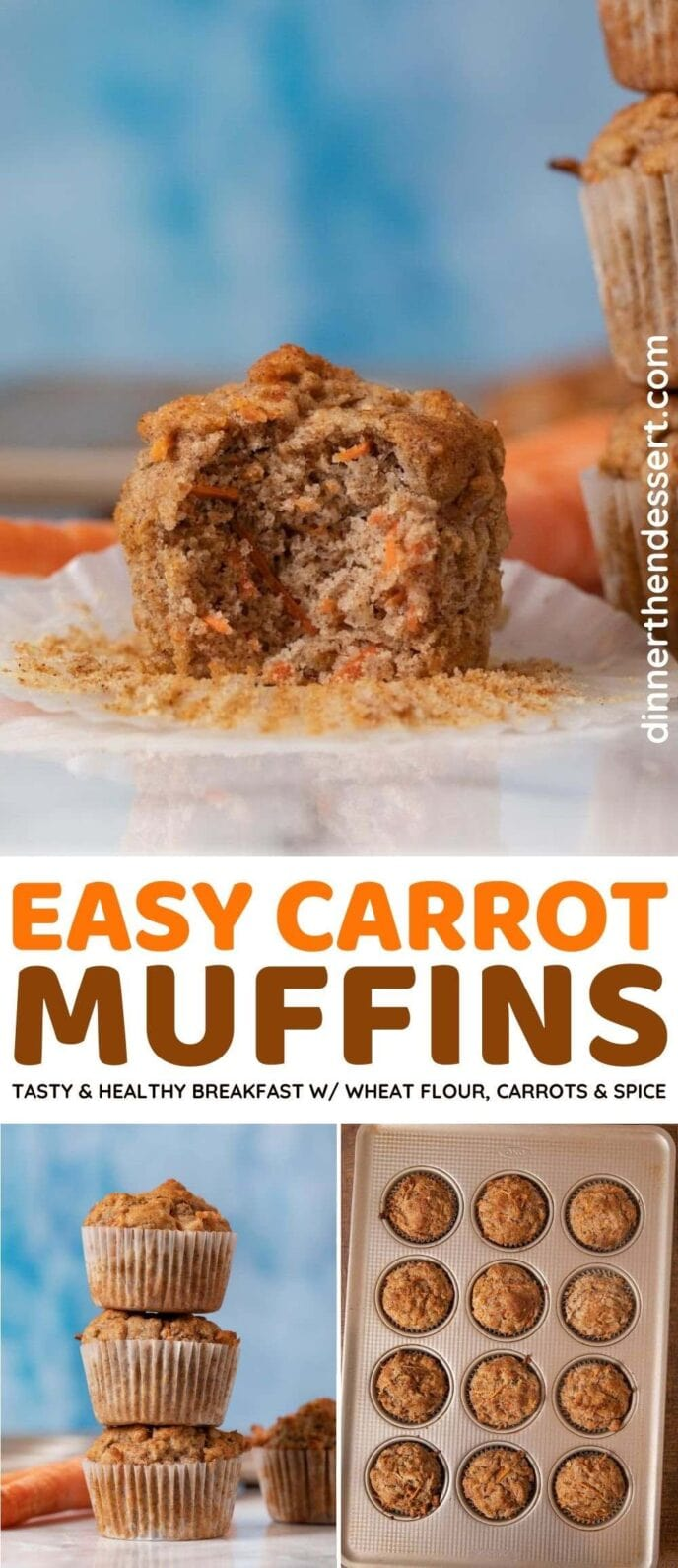 Easy Carrot Muffins collage
