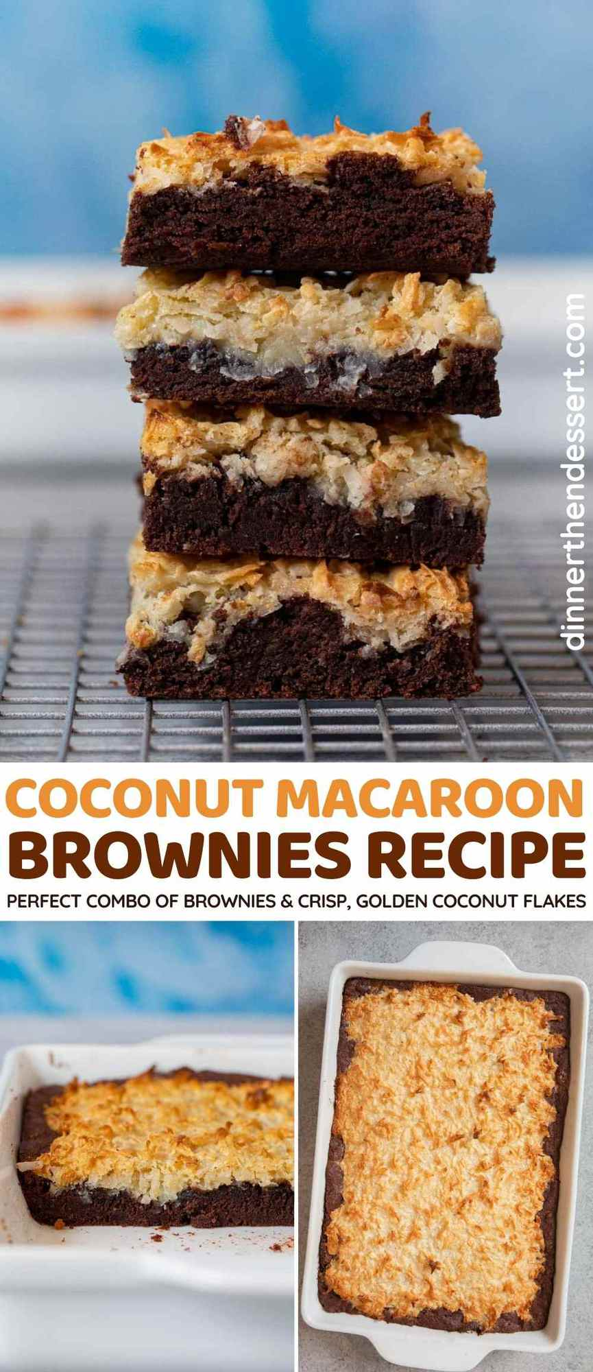 Coconut Macaroon Brownies collage