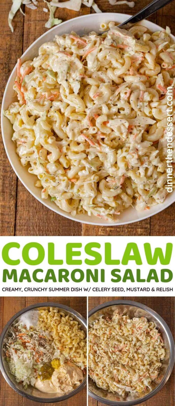 Creamy Coleslaw Macaroni Salad