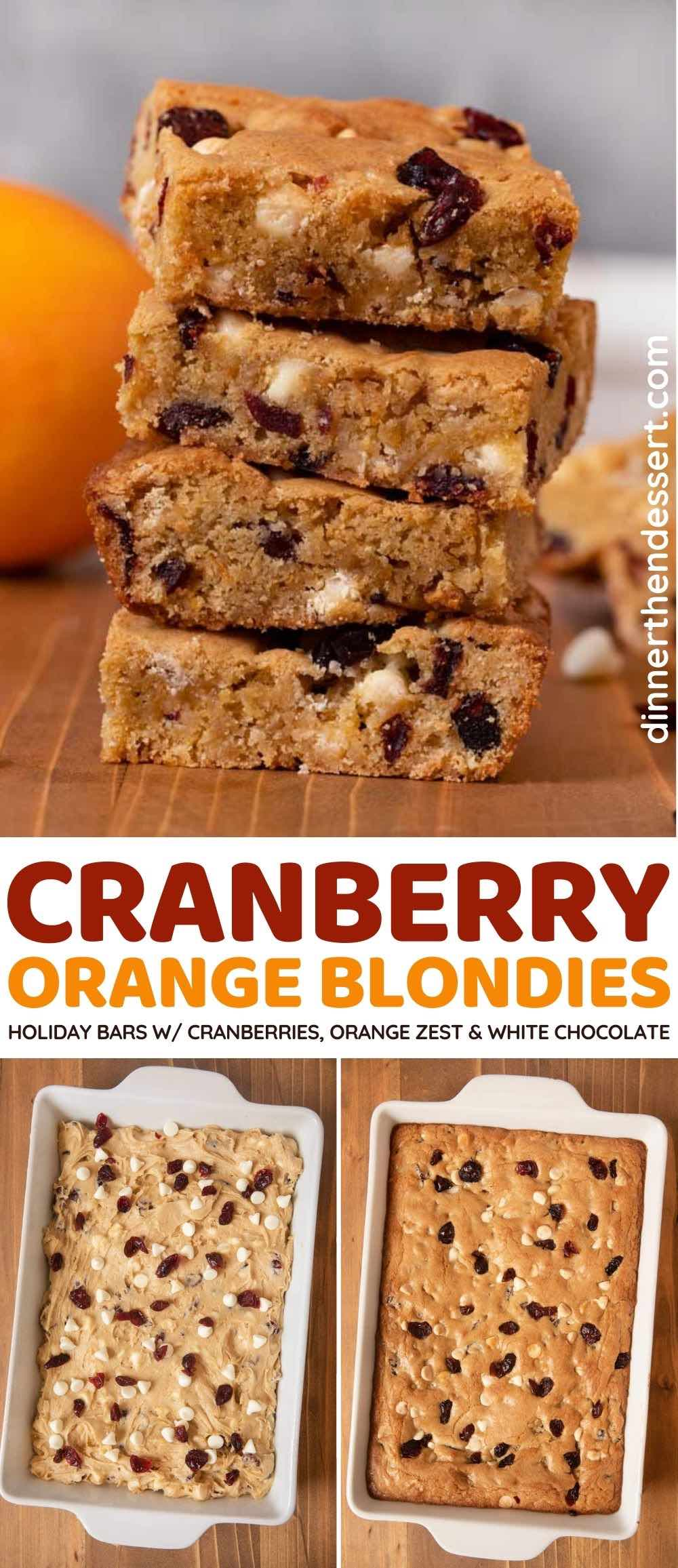 Chewy Cranberry Orange Blondies