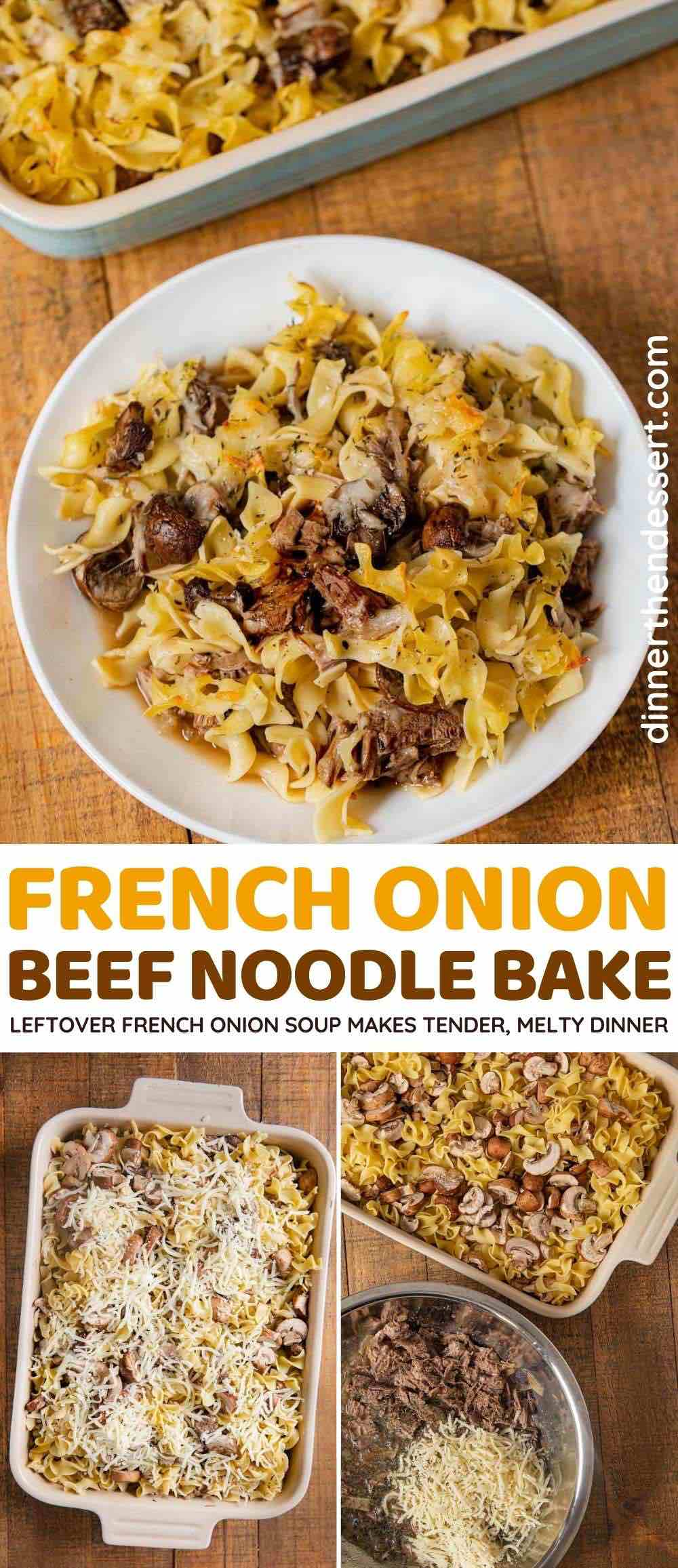 Leftover French Onion Beef Noodle Bake