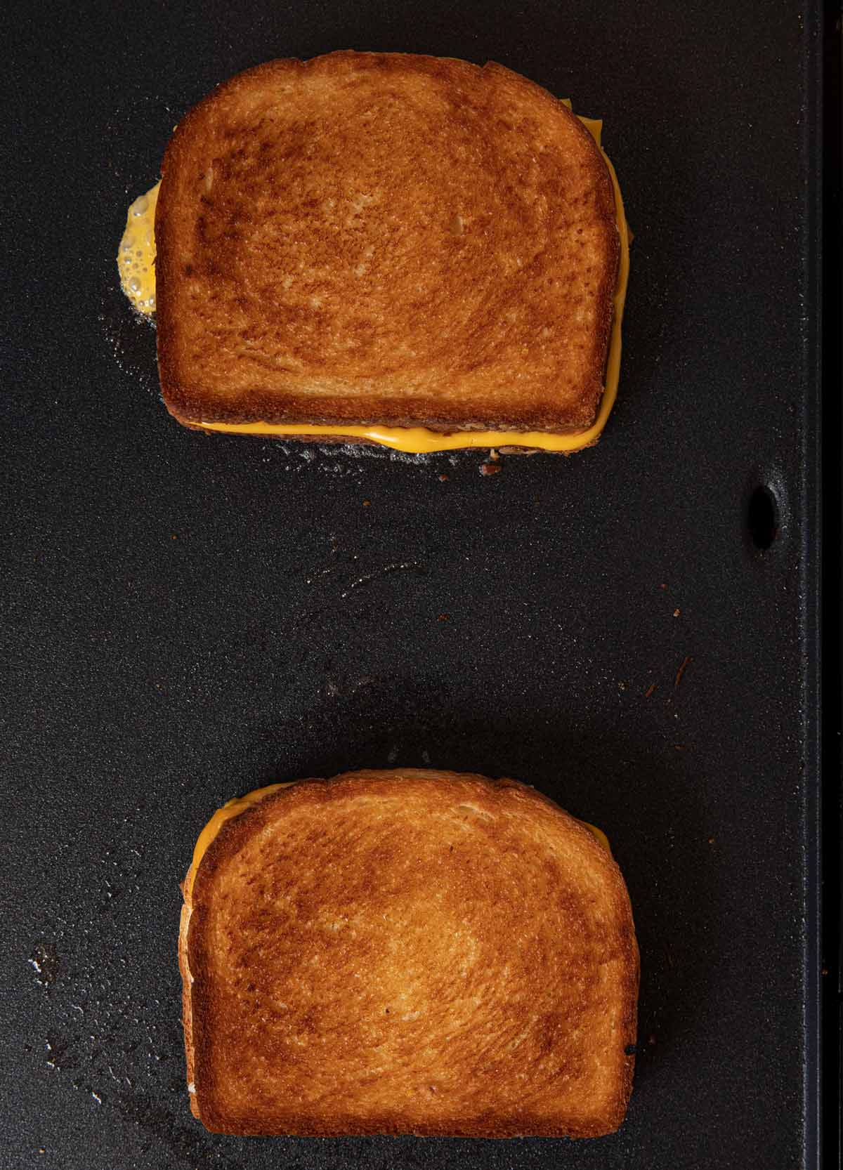 Grilled Cheese Sandwiches on griddle