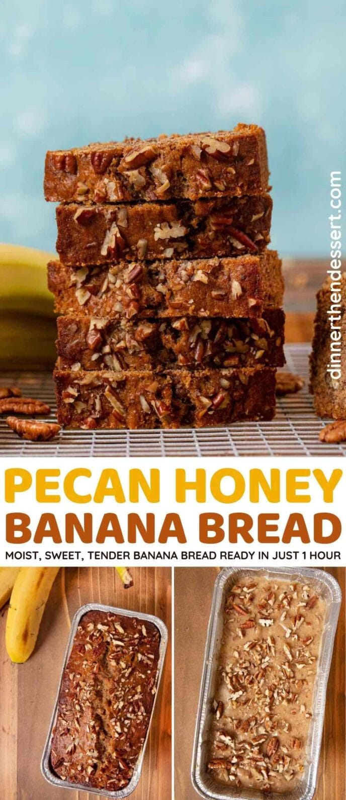 Pecan Honey Banana Bread