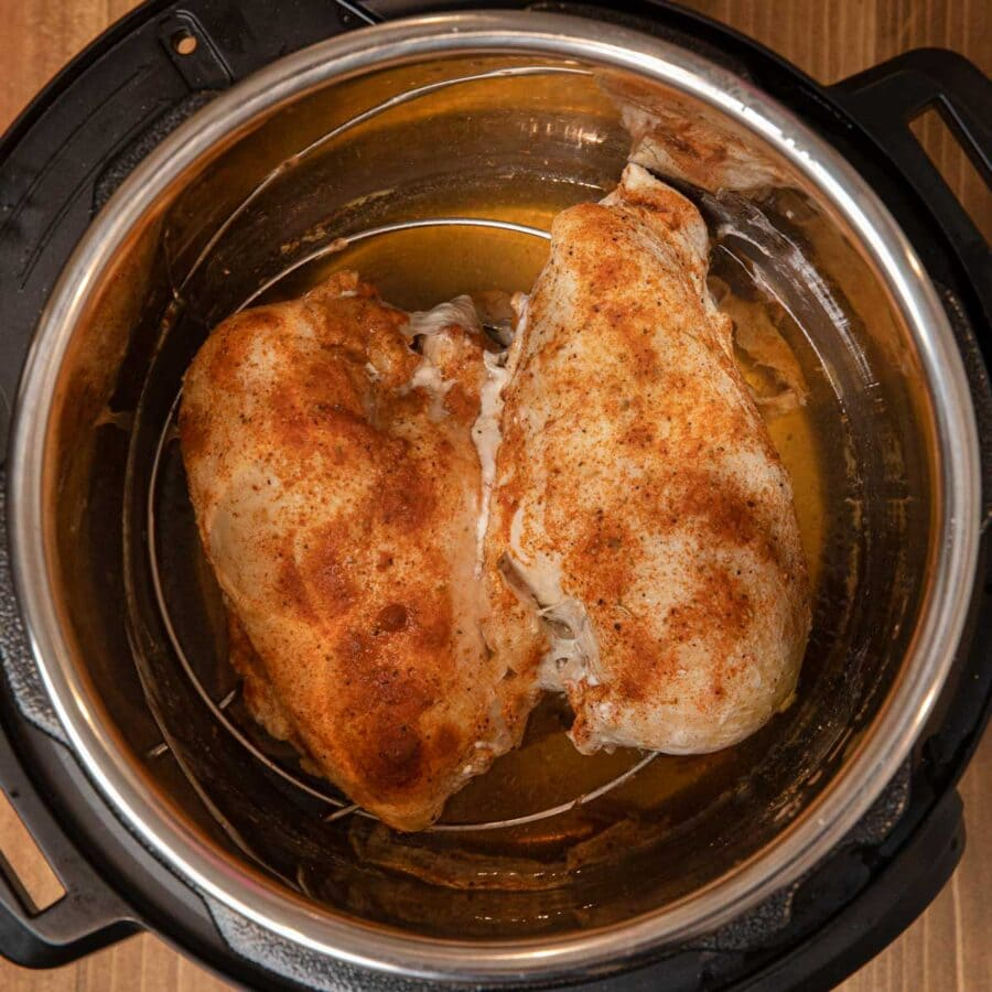 Instant Pot Frozen Chicken Breast in pressure cooker