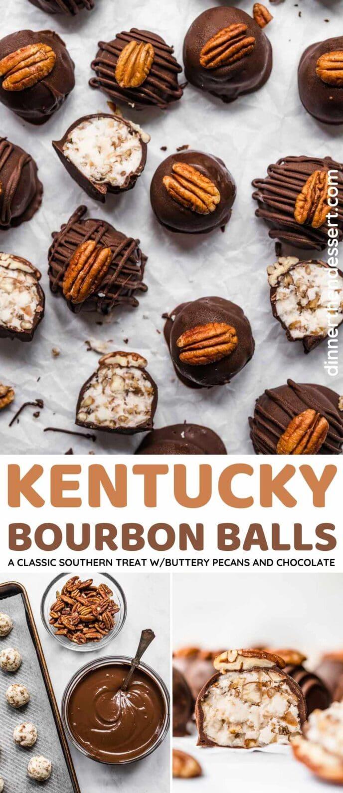 Kentucky Bourbon Balls Collage