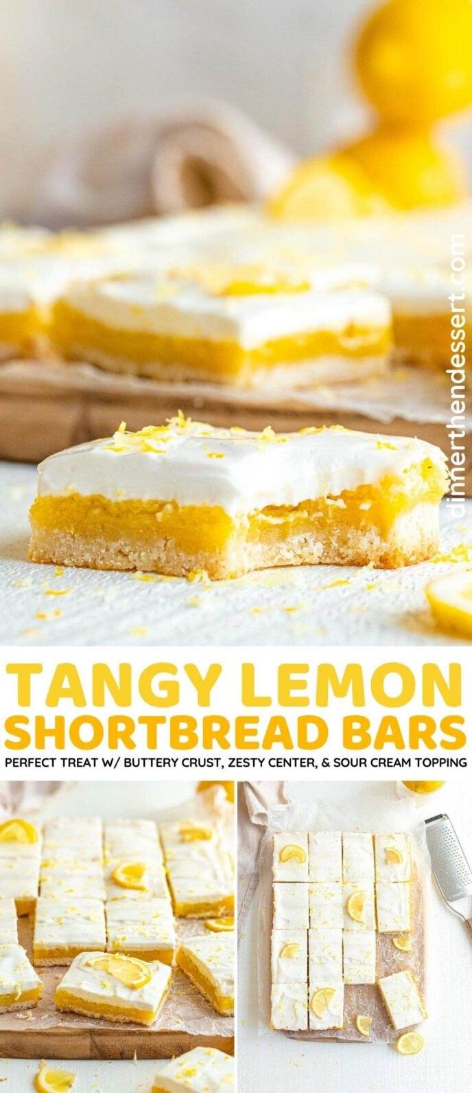 Lemon Shortbread Bars collage