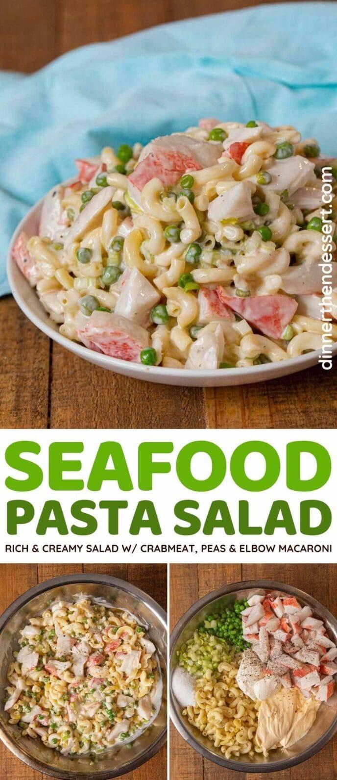 Seafood Macaroni Salad collage