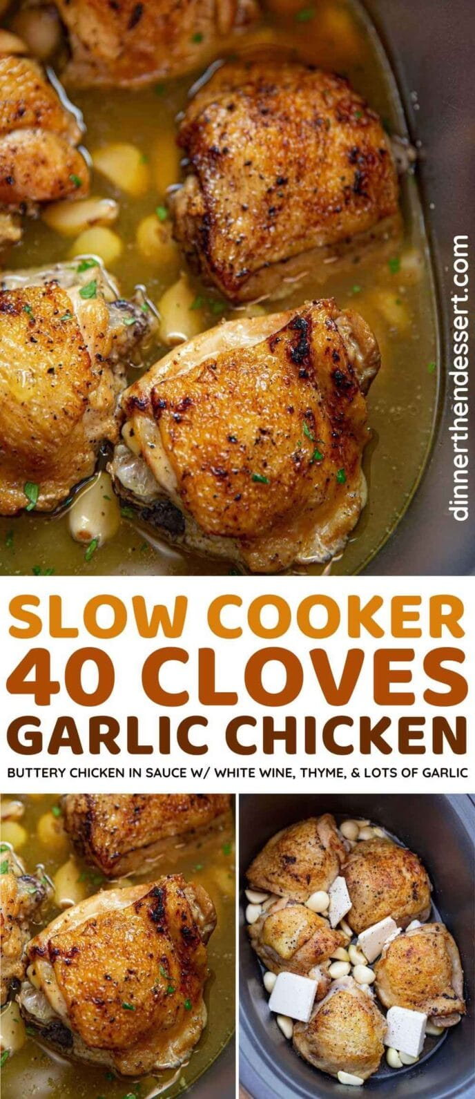 Slow Cooker 40 Clove Garlic Chicken