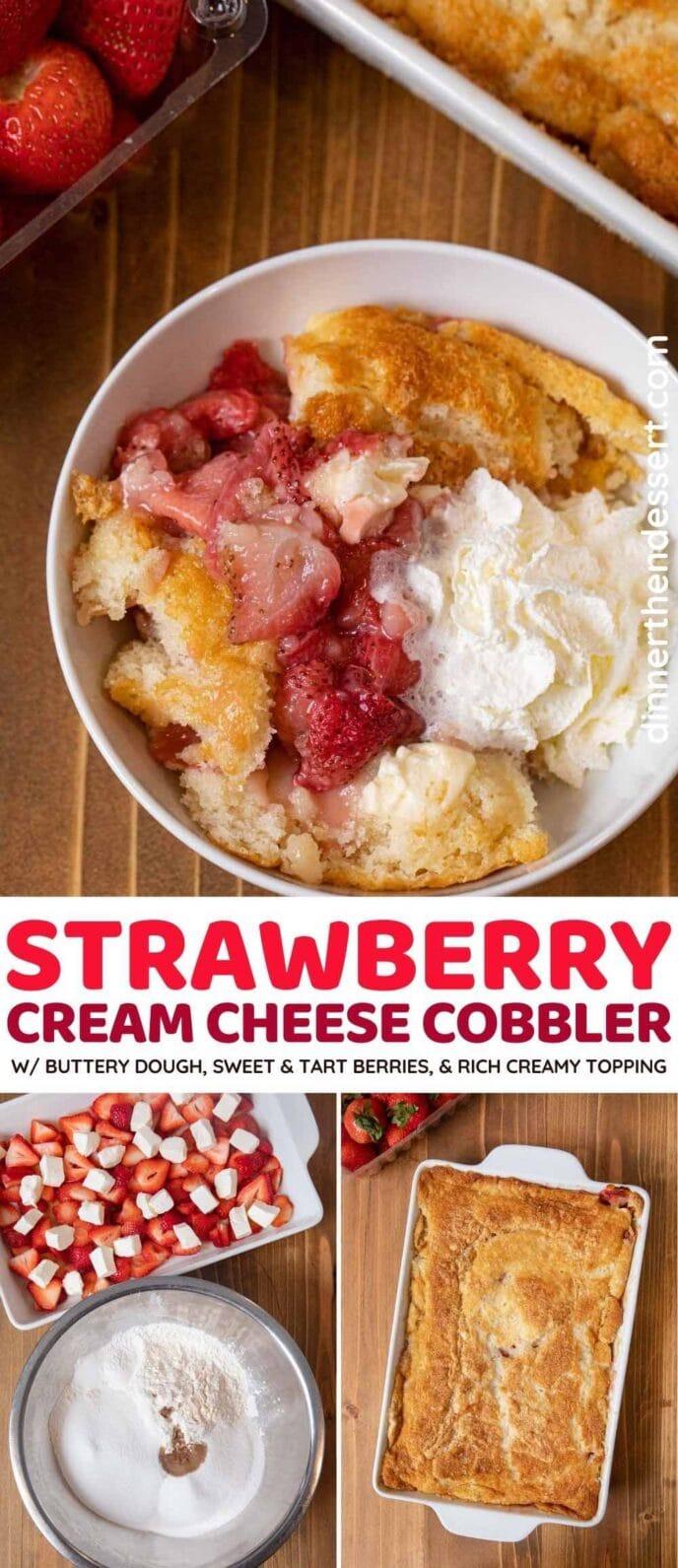 Cream Cheese Strawberry Cobbler