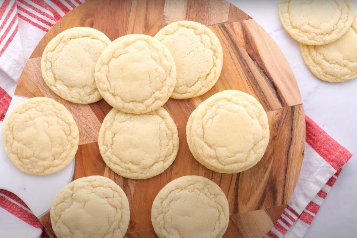 Sugar Cookies on cutting board