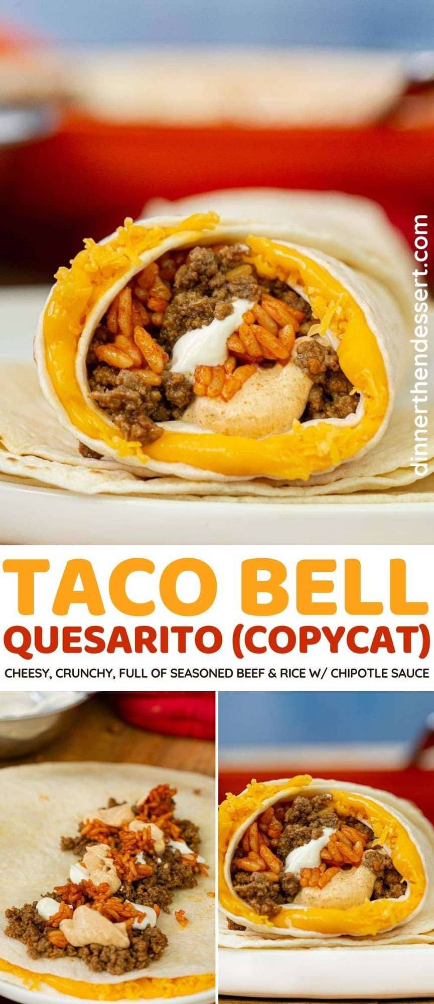 Taco Bell Quesarito copycat collage