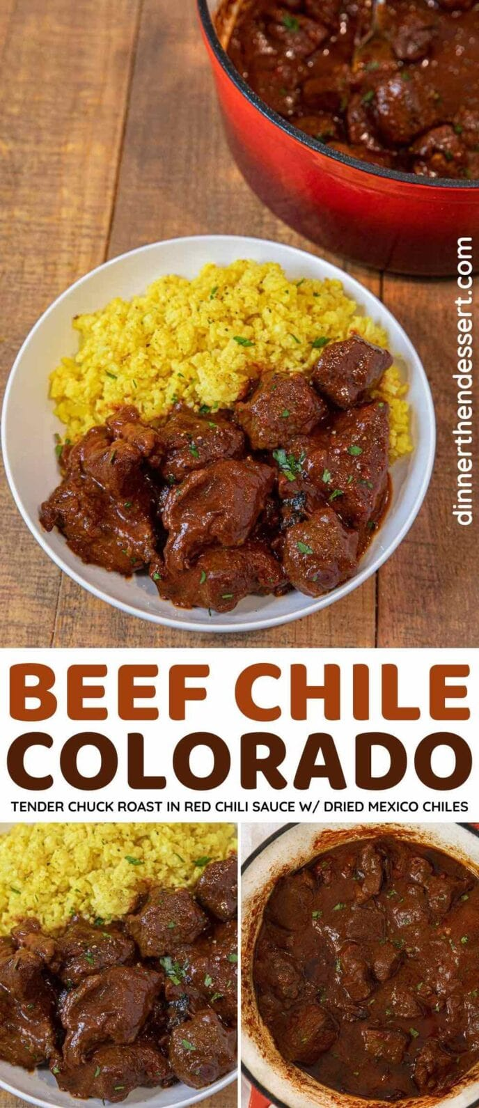 Beef Chile Colorado collage