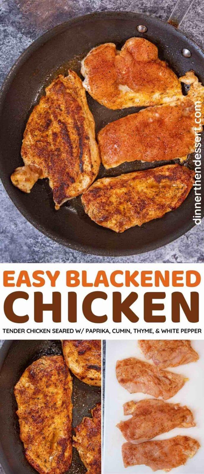 Blackened Chicken collage