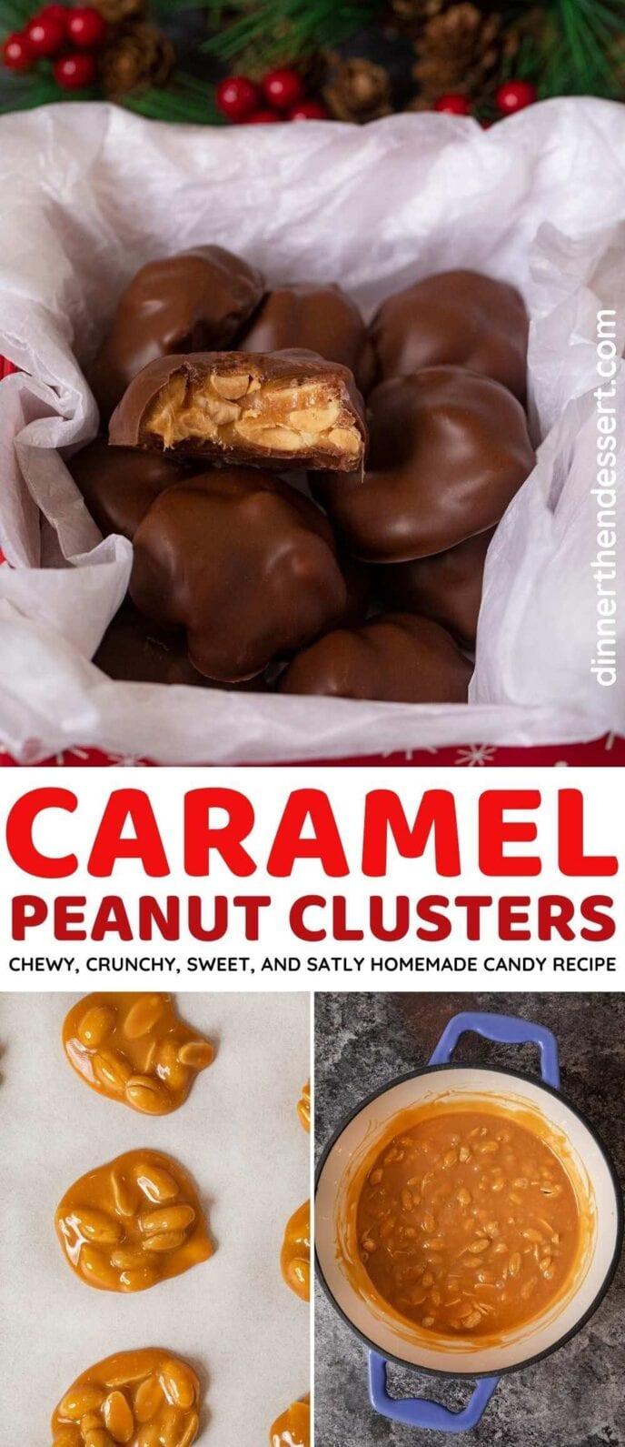 Caramel Peanut Clusters collage