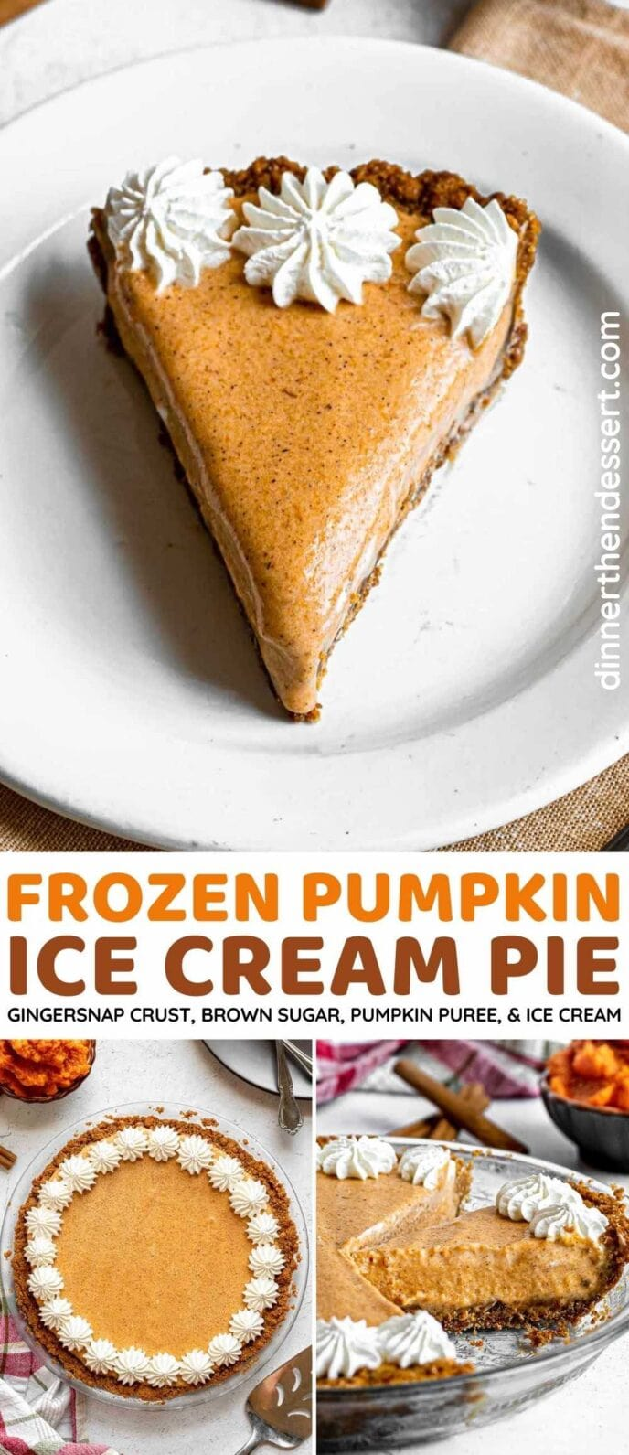 Frozen Pumpkin Ice Cream Pie