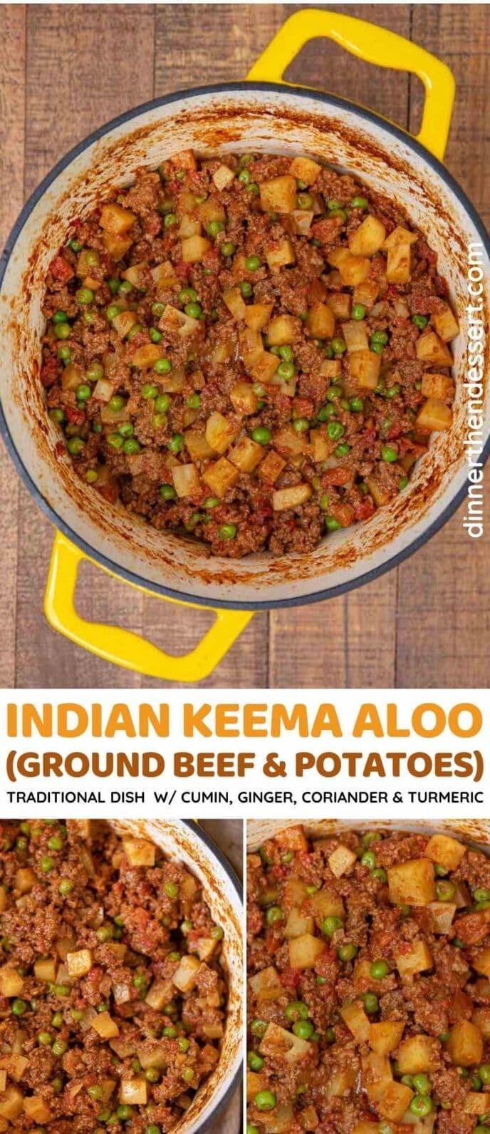 Indian Keema Aloo collage