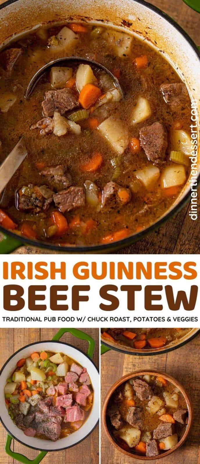 Irish Guinness Beef Stew collage