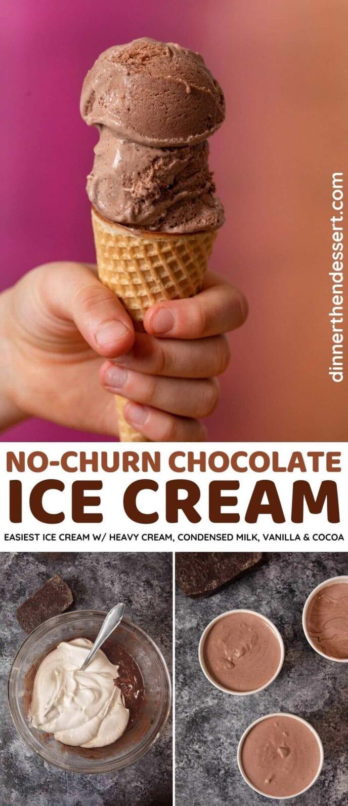 Creamy Chocolate Ice Cream collage