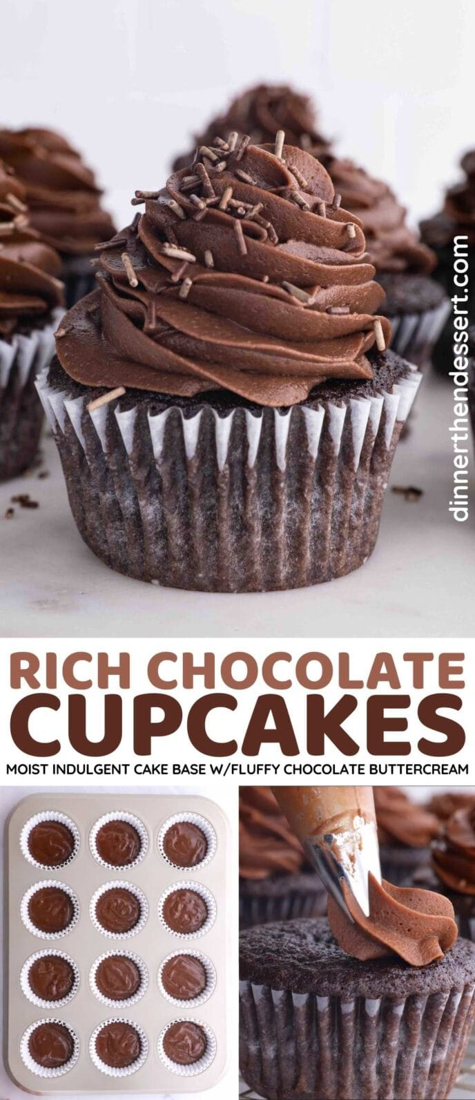 Rich Chocolate Cupcakes Collage