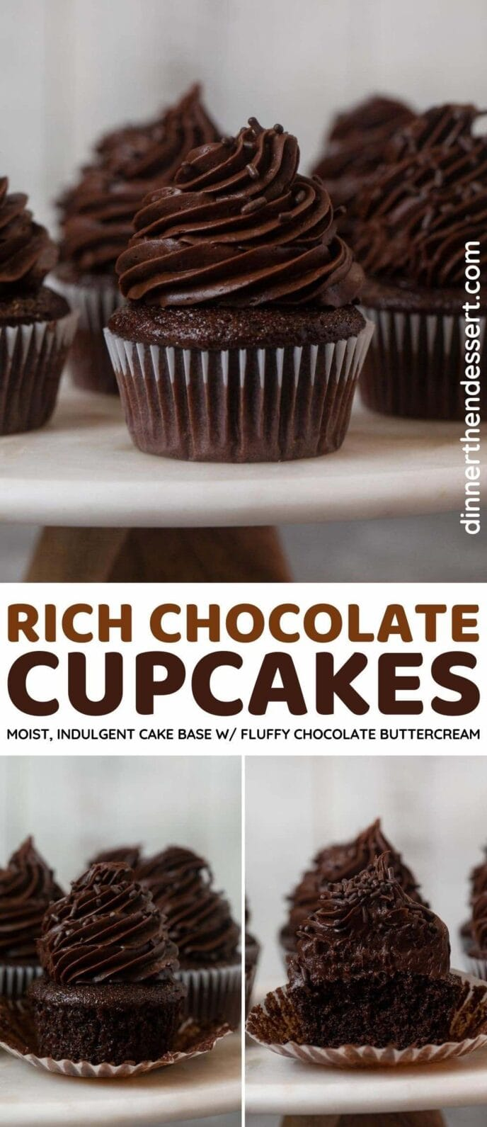 Chocolate Cupcakes collage