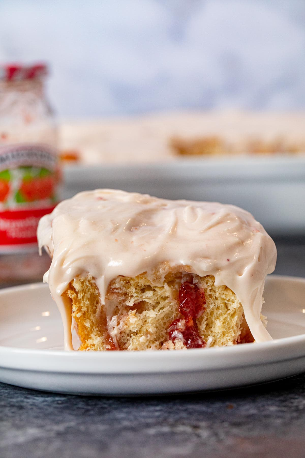 Strawberry Roll on plate